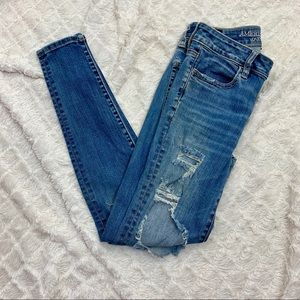 AEO | Distressed High Rise Jeggings | Size 4 Reg